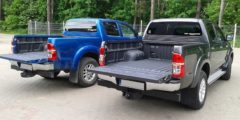 zabudowy pickup - zamiast plastikowej kuwety powłoka natryskowa