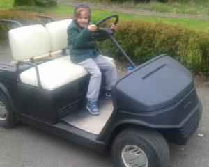 golf car z powłoką natryskową z poliuretanu