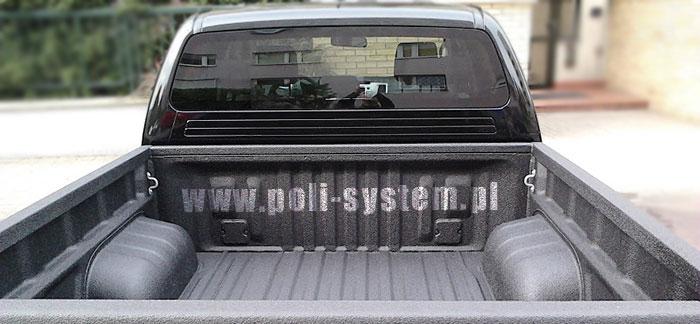 Paka pickup natryskowa powłoka ochronna z poliuretanu